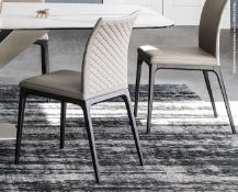 4 x CATTELAN ITALIA 'Arcadia Couture' Leather Upholstered Dining Chairs - Total Original RRP £3,540
