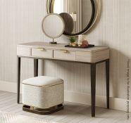 1 x FRATO 'Mandalay' Luxury Designer 2-Drawer Dressing Table In Dark Brown - Original RRP £4,300