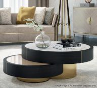 1 x FRATO 'Aarhus' Luxury Coffee Table Topped With Marble - Original RRP £6,611