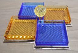 1 x BALDI 'Home Jewels'Italian Hand-crafted Artisan Glass Serving Dish - Original RRP £2.665.00