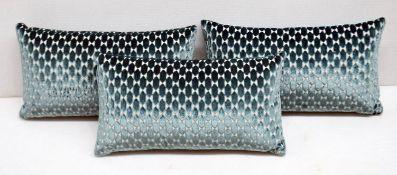 3 x B&B ITALIA 'Luis' Decorative Cushions In Lesina Velvet - Dimensions: 55x30cm - Total RRP £1,380