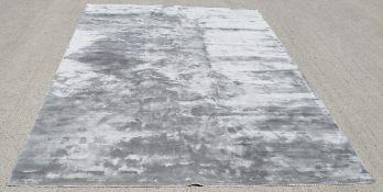 1 x PORADA / KATHERINE CARNBY LONDON 'Breeze' Rug In A Shimmering Silver Hue - Original RRP £3,215
