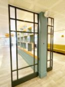 4 x Bespoke Upright Metal Partition Dividers - 4cm Thick Metal - Dimensions: H270 x W58/58/50/112