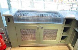 1 x Luvata Drop-In Open Top Display Chiller Unit With Bespoke Cabinet and Granite Worktop -