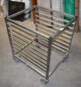 1 x Grundy Stainless Steel 7 Tier Mobile Tray Stand - Unused - Ref JP138 WH2 - Location: