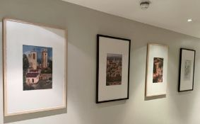 6 x Framed Wall Pictures Depicting Various Cathedrals and Churches - Size 90 x 60 cms and 40 x 40