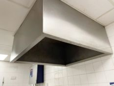 1 x Commercial Kitchen Extractor Canopy For Passthrough Dishwashers - Stainless Steel - Dimension: