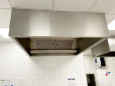 1 x Commercial Kitchen Extractor Canopy With Filters - Stainless Steel - Dimension: H50 x W150 x
