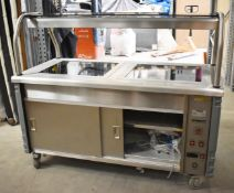 1 x Grundy Commercial Carvery Unit With Twin Ceran Hot Plates, Overhead Warmer and Plate Warmer