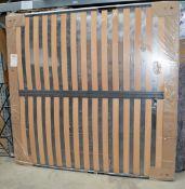 1 x GIORGIO COLLECTION Orthopedic European Kingsize Bed Slats - Dimensions: 204 x 192cm - Ref: