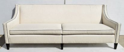 1 x DURESTA 'Ledbury' Luxury Upholstered Chair In A Pale Champagne With Key Design - RRP £4,309