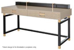 1 x FRATO 'Edinburgh' Writing Desk With 2-Soft Close Drawers - Original RRP £8.885
