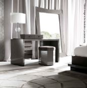 1 x GIORGIO COLLECTION 'Vision' Vanity Desk With Drawers Upholstered In Nubuk Leather- RRP £4,800