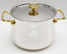 1 x Ondine Cookware Platine Stockpot With Lid - Ref: HHW057/JUL21 - CL679 - Location: Altrincham