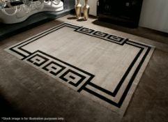 1 x GIORGIO COLLECTION 'Vogue Julius' Hand Knotted Wool & Silk Carpet Rug - Original RRP £10,080