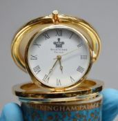 1 x Royal Collection 'Trust' Flip Up Clock With A Fine Bone China Lid - Made In England - Ref: