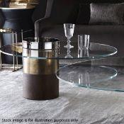 1 x GALLOTTI & RADICE 'Humea' Designer Glassed Topped Coffee Table - Original RRP £1,350