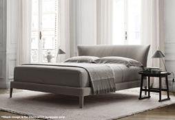 1 x MAXALTO 'Febo' Luxury Super-Kingsize Slated Upholstered Bed Base - Original RRP £5,948.00