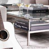 1 x EICHHOLTZ 'Harvey' Large Square Designer Coffee Table With Sliding Top - Original RRP £2,500