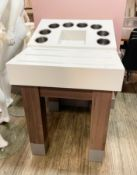 1 x Canteen Self Service Cutlery / Condiment Unit With Stainless Steel Cutlery Pots, Tray Runner,