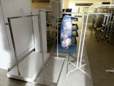 Assorted Collection of 5 x Retail Clothes Rail Stands Including 3 x White Four Arm Rails and 2 x