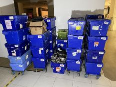 HUGE Job Lot of Retail SECURITY TAGS Approx 35 x Storage Crates Full of Security Tags Included -
