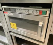 1 x Panasonic NE-1853 Commercial Microwave Oven With Stainless Steel Exterior - CL670 - Ref: