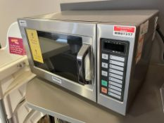 1 x Panasonic NE-1037 Commercial Microwave Oven With Stainless Steel Finish - CL670 - Ref: