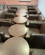 1 x Cafe Furniture Job Lot to Include 12 x Chairs, 6 x Tables, 2 x Tommee Tippee Baby Bottle