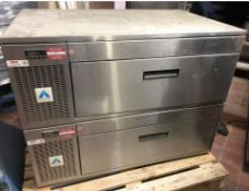 1 xADANDECommercial Kitchen Under Counter Twin Drawer Refrigerator Unit-CL667 - Location: