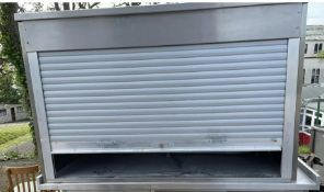 1 x Stainless Steel Storage Cabinet With Manual Roller Shutter Door-CL667 - Location: Brighton,