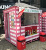 1 x Ice Cream Kiosk - 8ft x 6ft - Fitted With Sink, Hot Water And 3-Phase Supply - No VAT On The