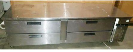 1 x Precision Under Broiler Four Drawer Refrigerator-CL667 - Location: Brighton, Sussex,