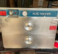 1 x Alto-Shaam Halo Heat Twin Warming Drawer Heated Holding WarmerWith Stainless Steel Exterior -