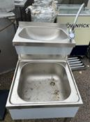 1 x Basix Stainless Steel Janitors Mop Wash Station With Mixer Tap - Unused -CL667 - Location: