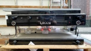1 x Gaggia Type E90 Four Group Commercial Coffee Machine - Finished in Black and Chrome - Made in