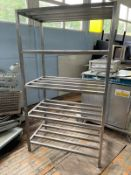 1 x Commercial Kitchen Cold Room / Freezer Storage Shelf With Slatted Shelves -CL667 - Location: