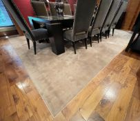 1 x Large Premium Carpet In Beige - Dimensions: 405cm / 304cm- NO VAT ON THE HAMMER