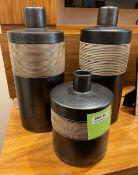 Set of 3 x Ornate Flasks- Ref: SGV130/GF/BDR - CL672 - Location: Newcastle upon Tyne NE7 - NO VAT