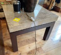 1 x Marble Topped Occasional Table - Dimensions: 76 x 76 x H57cm /Top Thickness is 8cm