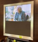 1 x BANG & OLUFSEN Wall Mounted Television In A Stainless Steel Frame, With Remote Control