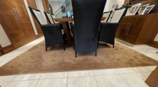 1 xLarge Premium Carpet In Light Brown - Dimensions: 340cm / 300cm - Ref: SGV132-GF/BDR - CL672 -