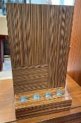 1 x Wooden Vase With 4 x Candle Holder - Dimensions: 30 x 8 x H49.5cm - Ref: SGV136 - CL672 -