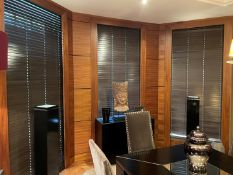 6 x Sets Of Wooden Louvre Blinds - Dimensions Vary, Read Full Description - NO VAT ON HAMMER