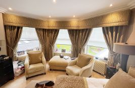 3 x Pairs of Premium Quality Curtains - Each Includes Pelmets, Ties & Blinds - NO VAT