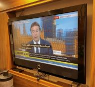1 xLoewe 42' Television Wall Mounted with TV Remote Control - Ref: SGV131-GF/BDR - CL672 - NO VAT