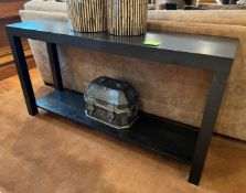 1 x Solid Wood Console Table In A Dark Wenge Stain - Dimensions: H78 x W150 x D40cm - Ref: SGV111 -