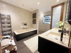 1 x Premium Bathroom Suite With Duravit WC, Marble Bath, Shower & More - NO VAT ON HAMMER