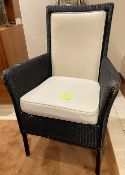 8 x Genuine LLOYD LOOM British Handmade Woven Dining Chairs With Upholstered Back And Seats -