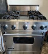 1 x Viking Professional 4 Burner Range Cooker With Gas Convection Oven-CL667 - Location: Brighton,